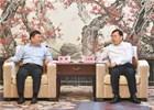武汉市委书记王忠林与山东竞博电竞app安卓董事长缪峰座谈